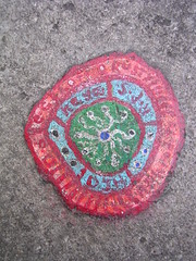 Ben's chewing gum art - DSCN4283 (rahid1) Tags: road street streetart macro london gum graffiti pavement chewinggum graff haringey muswell muswellhill chewinggumman coolpix3100 benschewinggumart benwilson
