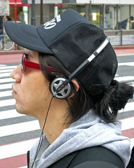 Lost in music (manganite) Tags: portrait people men japan closeup digital asian japanese tokyo asia tl candid shibuya young guys streetscene casio march26 march262006 manganite date:year=2006 date:month=march