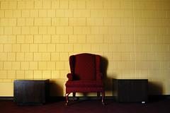 Chair, St. Paul, Minnesota (Seven Seconds Before Sunrise) Tags: college minnesota wall chair unitedstates stpaul twincities csc oshag oshaughnessyauditorium