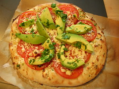 Fresh Tomato Pizza with Avocado