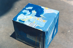 Box (harpreet thinking) Tags: blue india art colors collage paper asia indian celebration passion boxes untitled chandigarh harpreet assemblege