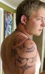Ta moko (chris_can_do) Tags: me auckland manamoko newzealand aotearoa maori tattoo moko kroad skin shoulder tamoko kirituhi portrait krd arm powershotg2 maoritattoo self canon ttowierung schulter neuseeland 510fav karangahaperoad spectacularelite 40000views