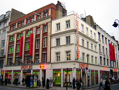 Foyles Bookshop, Soho - by Fin Fahey