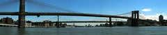 NYC - Brooklyn and Manhattan Bridges (panoramic) - by wallyg