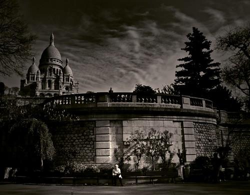 Lady at the Sacré Coeur
