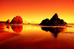 Shores of Fire (| HD |) Tags: ocean desktop windows sunset red wallpaper mars seascape 20d beach nature oregon canon giant landscape fire coast photoshoot pacific northwest quality shore microsoft planet vista hd harris darwish hamad