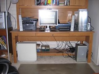 Computer Desk and Hutch