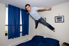 Flying Off to South Africa (DanielN) Tags: portrait selfportrait me self flying bedjump