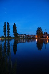 Village reflections (stevec77) Tags: longexposure trees reflection night reflections d50 dark landscape star evening twilight bravo village phonebooth norfolk nikond50 nightsky 1855mmf3556g phonebox greatmassingham bbcopenlab