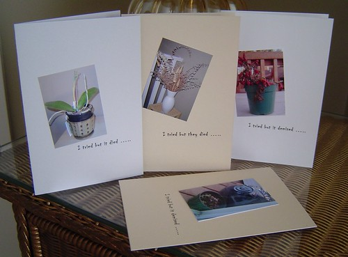 Questionable greetings cards - the I tried but it died series