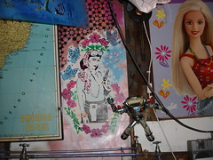 Don't mess with Barbie!!! (Glenda GlitaGrrl) Tags: art girl graffiti stencil gun selfportraits adventure glenda glendapontes