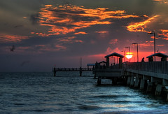 Sunset over the pier (Java Cafe) Tags: ocean sunset sea sky sun beach nature topf25 water topv111 clouds skyscape landscape pier interestingness topf50 florida topv1111 100v10f fv5 500v50f clearwaterbeach cloudscape fortdesoto f50 1111v11f 111v1f interestingness8 i500 1500v60f 1000v40f explore13jun06 exploretop20