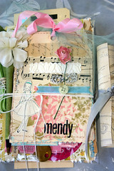 A thank you for a friend (fleamarketstudio) Tags: flowers art collage vintage tags gift swap collageart crafty finds alteredart thrifty shabbychic mixedmediaart
