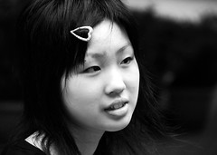 Just a japanese girls face (manganite) Tags: girls portrait people bw topf25 beautiful beauty face japan kids digital children asian japanese interestingness nikon asia pretty child tl candid young teens explore teenager d200 dslr girlies tsukuba ibaraki japanesegirl ninomiya interestingness387 i500 18200mmf3556 manganite nikonstunninggallery date:year=2006 date:month=june date:day=23