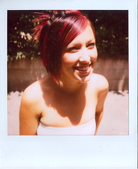 Marcy, at the Photo Shoot (Lou O' Bedlam) Tags: portrait polaroid losangeles marcy polaroid680 louobedlam 624photoshoot lounoble louobedlamcom