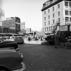 18 dock square (ndpa / s. lundeen, archivist) Tags: street city streets boston square quincy hall dock market massachusetts company 1950s 1958 kelly intersection mass haymarket faneuil trucking dewolf haymarketsquare nickdewolf photographbynickdewolf docksquare