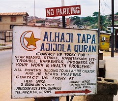 Sign of Fortune (Barefoot In Florida) Tags: africa sign state muslim culture fortune nigeria ogun abeokuta