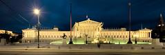Das Parlament sterreichs (Alexander Kiel) Tags: vienna wien panorama sterreich architecture austria capital parliament architektur parlament hbf dri hdr nachtaufnahme 3xp urlaubwien2006