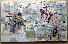 lance armstrong vs marco pantani (senyol) Tags: new wood mountain abstract art by illustration painting cycling climb chaos contemporary fine competition 2006 calm canvas lance marco armstrong source signatures realism senyol relevant artform pantani sasol sportform 12metre 2metre