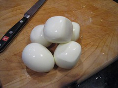cubed and regular eggs (Andrew Huff) Tags: food strange egg device wtf eggcuber