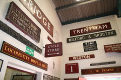 Signs in Foxfield Station (quimby) Tags: railway steam foxfield
