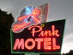 Pink Motel Illuminated (Jacob...K) Tags: tourism america nc native indian south north tourist southern american carolina americana cherokee appalachian appalachia trap reservation
