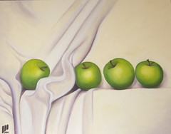 My First Oil Painting (I Can) Tags: green painting purple oil apples cloth        yourmasterpaintings