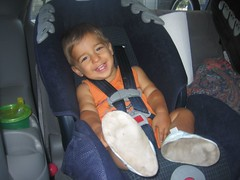 two year old in car seat