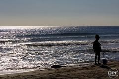 Silueta (Escursso) Tags: catalonia creixell tarragona spain platja playa beach mediterrani mediterranean