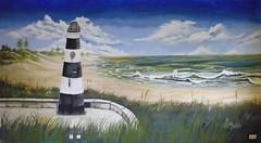 Küstenlandschaft (GrinseGlatze) Tags: ocean sea color colour art painting landscape artwork meer kunst natur landschaft acryl küste malerei ozean leinwand wwwravenartsde janschönepauck