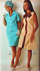 Wards 69 ss blue and browns (jsbuttons) Tags: 1969 clothing mod 60s buttons womens catalog montgomery 69 sixties wards vintagefashion