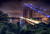 The George Washington Bridge (mudpig) Tags: city nyc newyorkcity longexposure newyork reflection tree river newjersey manhattan photograph hudsonriver foilage hdr gwb fortlee georgewashingtonbridge washingtonheights lighttrail lightstream mudpig stevekelley stevenkelley