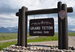 Grand Teton National Park (afagen) Tags: sign nps wyoming nationalparkservice grandteton jacksonhole grandtetonnationalpark