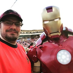 Hanging out with Iron Man at the Sky Sox Avengers night. / on Instagram https://instagram.com/p/53REkGsmoi/