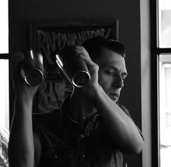Rappahannock Shakes (pjpink) Tags: summer blackandwhite bw monochrome june bar restaurant virginia richmond cocktails bartender mixology rva shaken rappahannock 2015 pjpink