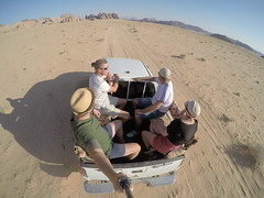 Driving around in The massive Wadi Rum!