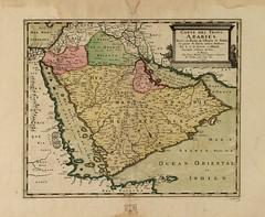 Carte des trois Arabies de 1654. (Static Phil) Tags: carte 1654 oldmaps troisarabies