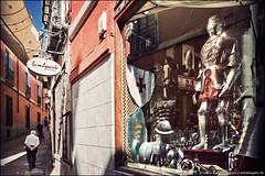 toledo (heavenuphere) Tags: world street city man reflection heritage window shop architecture site spain europe medieval historic unesco espana toledo armour lamancha castillalamancha 24105mm castilelamancha