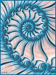 Blue Horizon (antarctica246) Tags: antarctica246 fractal fractalspiral mathart blue aqua white fraxhd