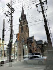 going to church (Ian Muttoo) Tags: img20161128130622edit toronto ontario canada gimp stmaryschurch reflection reflections flock bird birds