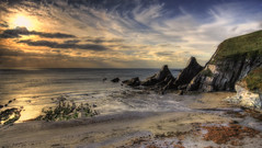The Beach [Explored 11/12/2016] (Nickerzzzzz - Thanks for stopping by :)) Tags: ©nickudy nickerzzzzz theartofphotography canoneos5dmarkiii ef1635mmf4lisusm westcombe beach sunset landscape seascape sky sea water wave rocks ringmore explored