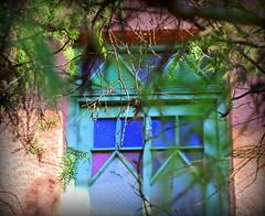 the secret door (claredlgm1) Tags: glass colored doors abandoned secret mystic
