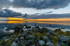 Evening by the sea (Arttu Uusitalo) Tags: sunset evening clouds summer cloudy baltic sea seaside seashore kvarken finland replot rocks nikon wideangle ostrobothnia raippaluoto