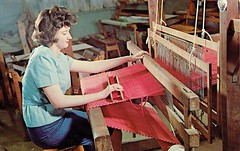 Loom Operation, College of the School of the Ozarks, near Branson, MO (Guy Clinch) Tags: postcard looms