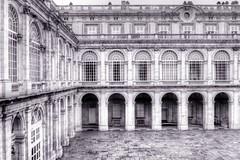 Inner Courtyard, Royal Palace of Madrid (robin denton) Tags: royalpalaceofmadrid royalpalace palace madrid spain espana palacioreal historicbuildings building history hdr courtyard bwhdr monochrome blackwhite blackandwhite bw