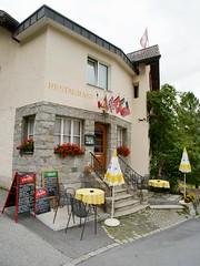 Hotel-Pension Hauser (Riex) Tags: hotelpension hauser restaurant terrasse patio architecture engadinoise pontresina puntraschigna grisons graubünden engadine switzerland suisse graubunden schweiz svizzera a900 minolta amount minoltaamount 20mm af