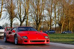 Brave (MJParker1804) Tags: ferrari f40 twin turbo v8 classic car supercar rosso corsa red ff 488