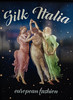 Silk Italia (Steve Taylor (Photography)) Tags: silkitalia european fashion damsels seethrough transparent stars space barefeet art advert poster brown black blue green pink pastel lady woman women newzealand nz southisland canterbury christchurch city holdinghands italian