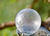 Frozen planet sunrise! (ineedathis,The older I get the more fun I have....) Tags: frozenbubble soapbubble fun winter snow rock crystals sphere planet frost play nikond750 bokeh macro magical weepingatlascedar crystalball cold freezing garden nature icebubble