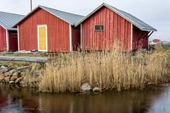 Seaside warehouses (Timo Halonen) Tags: svedjehamn björkö ostrobothnia finland harbor sea meri nikon dx d5200